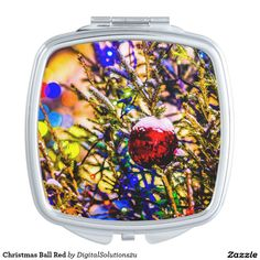 Christmas Ball Red Compact Mirror