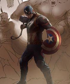 Captain America by Jackson Caspersz Captain America Art, Chris Evans Captain America, Comic Art, Comic Books, Venom Art, Captain American, Avengers Art, Spiderman, Batman