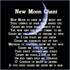 New moon chant