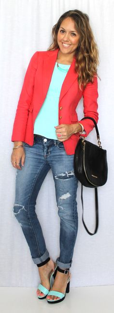 J's Everyday Fashion. I can't pull off the rolled jeans, but the rest is cute.