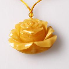 New Natural Volcano Cherry Quartz sculpté Fleur Rose Pendentif Fashion pour cadeau