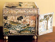 Rare English Needlework Casket, c1650