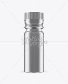 Metal Sport Nutrition Bottle Mockup – Front View