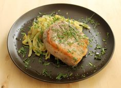 Boneless pork chops are notoriously hard to cook properly -- they can turn from tender to stringy in a matter of seconds on the stovetop. Like boneless chicken breasts, they are a prime candidate for sous vide cooking. Prepared simply with Mediterranean herbs and sweet caramelized fennel, they make for a delicious summer meal.