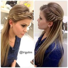 Leticia Rigolim  @leticiarigolim Penteado liso com...Instagram photo | Websta (Webstagram)