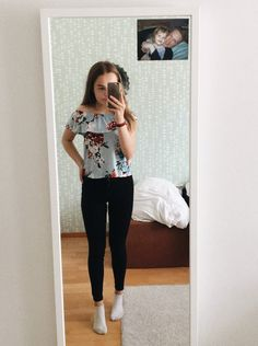 black jeans and cute shirt