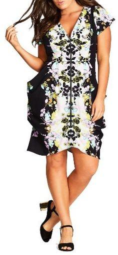Plus Size Women's City Chic Plus Size Zip Front Fit & Flare Dress