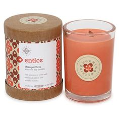 Root Candles Seeking Balance Orange Clove Entice Candle
