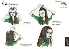 bangstyle.com beauty  10 Easy Summer Hairstyles, Illustrated by Colette Malouf