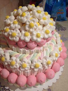 Candy S, Candy Cakes, Candy Party, 7 Cake, Cupcake Cakes, Unicorn Birthday, Birthday Cake, Marshmallow Cake, Bar A Bonbon