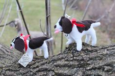 English Springer Spaniel (LIVER) Hand-Stitched Felt Ornament, Liver Springer Spaniel, Personalized FREE, Dog Ornament, Felt Ornament