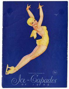 1946 Ice Capades Program Cover, art by George Petty
