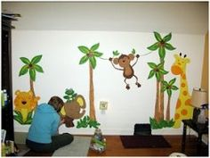 When a sweet little baby is on the way, all minds turn to preparing for the big arrival. You'll want to have plenty of diapers and wipes on hand as well as the baby layette for baby to cuddle in. When thoughts turn to the nursery décor, you'll. Jungle Theme Nursery, Nursery Themes, Baby Layette, Little Babies, Baby Room, Cuddling, Graffiti, Super Cute, Painting