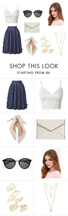 """""""Sin título #142"""" by iamvalerianl on Polyvore featuring moda, Rebecca Minkoff, Yves Saint Laurent, Lulu*s, Topshop y Forever 21"""