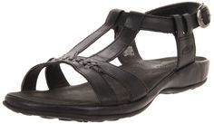 KEEN Women's Emerald City Sandal,Black,5 M US. Burnished leather footbed cover^Leather wrapped midsole^Non-marking natural rubber outsole.
