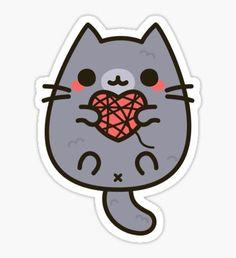 Cat stickers featuring millions of original designs created by independent artists. Kawaii Stickers, Cat Stickers, Printable Stickers, Laptop Stickers, Cute Kawaii Drawings, Kawaii Doodles, Pusheen Cat, Dibujos Cute, Tumblr Stickers