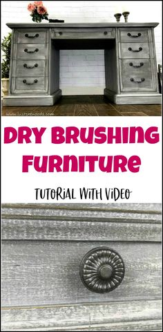 Dry brushing furniture tutorial with video. Dry brushing is the easiest furniture painting technique. Get a gorgeous dry brushed painted furniture finish.