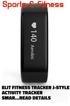 Elit Fitness Tracker J-Style Activity Tracker Smart Band with Sleep Monitor, Smart Bracelet Pedometer Wristband with Replacement Band ... (This is an affiliate link) Best Fitness Tracker, Aerobics Workout, Smart Bracelet, Apple Tv, Monitor, Sleep, Activities, Band, Style