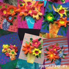 My students love working with different mediums, but when you put them together you get a fun, adorable project such as these flower bouquets. This project incorporates air dry clay, tempera paint …