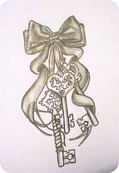 This is a tattoo I drew for my friend~ It's the first tattoo that I've ever drawn, actually. Band Tattoos, Ribbon Tattoos, Feather Tattoos, Leg Tattoos, Body Art Tattoos, Sleeve Tattoos, Heart Tattoos, Garter Tattoos, Rosary Tattoos