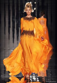 Middle Eastern Couture | ... bright colors on the couture runway? Sleeveless and long sleeve gowns