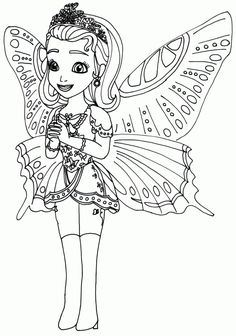 Printable Princess Butterfly Sofia The First Coloring Pages For Baby Girl