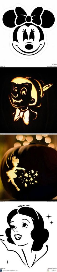 Disney Pumpkin Carving Ideas by addie