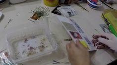 Ragasztásos transzfer nem lézernyomtatóval készült képpel Techno, Plastic Cutting Board, Decoupage, Container, Fa, Youtube, Projects, Blue Prints, Youtubers