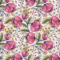 Vector collection of  hand drawn patterns with blooming vintage roses. I think that roses never go out of fashion, especially old fashioned roses like these))