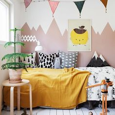 Do not be afraid to of a bit of colour! Today we feature an AMAZING kids room plenty of colour and style. Get inspired! http://petitandsmall.com/colourful-scandinavian-kids-room-instagram/