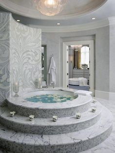 101 Decorating Secrets from Top Interior Designers white luxury bath. - 101 Decorating Secrets from Top Interior Designers white luxury bathroom Micoley's pi - Dream Bathrooms, Dream Rooms, Beautiful Bathrooms, Luxury Bathrooms, Luxury Bathtub, Small Bathrooms, Modern Bathrooms, Glamorous Bathroom, Marble Bathrooms