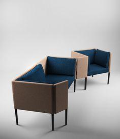 """732 - Lana _ Canapé et Fauteuil / Sofa and Armchair """"Ahlan"""", Charles Kalpakian pour Dar en Art. www.lelievre.eu/"""