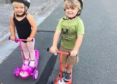 Sibling summer fun scootering around town! #summer #siblings #pulsescooters
