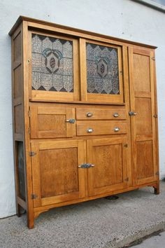 Antique Leadlight Cupboard Cabinet Kitchen Dresser Meatsafe Large Other Furniture Gumtree