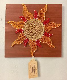 String Art / Nail and String Art / Sun / Sun by HodgepodgeCraftsRS