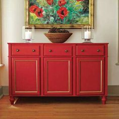 Sideboard made out of stock cabinets