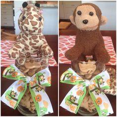 Noah's ark themed baby shower centerpieces :)
