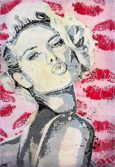 """""""Blow a Kiss"""" by Daniel Bombardier.  Mixed Media on Wood Panel"""