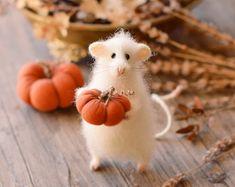 Peluche ratón fieltro kawaii peluche hecho a mano por OlgaMareeva