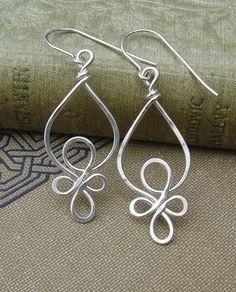 Celtic Loops Sterling Silver Wire Earrings
