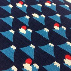 Fabric as art: beautiful, recognizable yet-understated pattern - Fuji fabric Motifs Textiles, Textile Patterns, Textile Prints, Textile Design, Japanese Textiles, Japanese Patterns, Japanese Prints, Japanese Design, Pretty Patterns