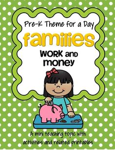 Families at work theme pack for preschool