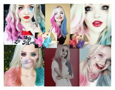 """Dove Cameron is My Harley Quinn"" by demiwitch-of-mischief ❤ liked on Polyvore featuring art"