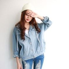 Buy 'rico – Hooded Washed Denim Jacket' with Free Shipping at YesStyle.com.hk. Browse and shop for thousands of Asian fashion items from Taiwan and more!