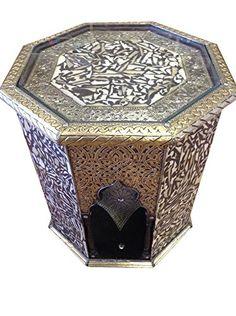 Moroccan Octagonal End Table Silver Metal Camel Bone Arabic Furniture Moroccan http://www.amazon.com/dp/B00YCQ1THQ/ref=cm_sw_r_pi_dp_SwEzvb0KEWFW6