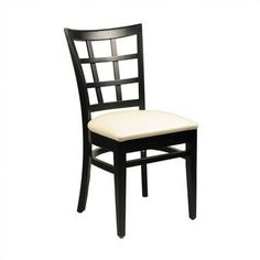 Alston Lattice Back Side Chair (Set of 2) Finish: Black, Upholstery: New Soho: Claret