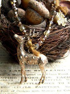 Winter Deer.   http://www.etsy.com/shop/woodlandjewelries