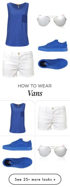 """Untitled #618"" by bellev17 on Polyvore featuring BOSS Orange, Frame Denim, Lipsy and Vans"
