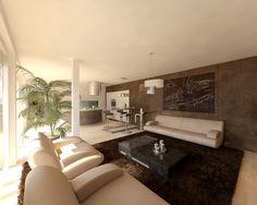 Látványterv nappali / Architectural visualization living room ...