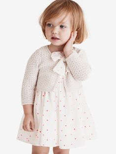 dress & cardi >> This makes me want to have a baby! Such a cute outfit!
